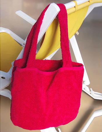 Eine hübsche Strandtasche für den Urlaub, den Schwimmbadbesuch, die Sauna oder den Badesee in der freien Natur.